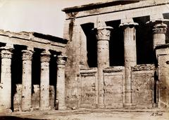 5 Large Photos of Egyptian Temples and a river, Antonio Beato, ca. 1865