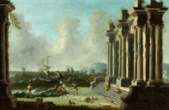 Architectural Ruins Painting by Neapolitan Master Gennaro Greco, c. 1700