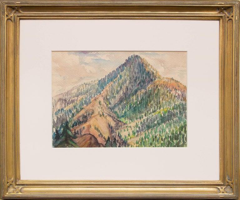 Charles Ragland Bunnell Landscape Painting - Cameron's Cone (Above Colorado Springs, Colorado)