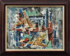 New York Harbor (Abstract Expressionist Composition)