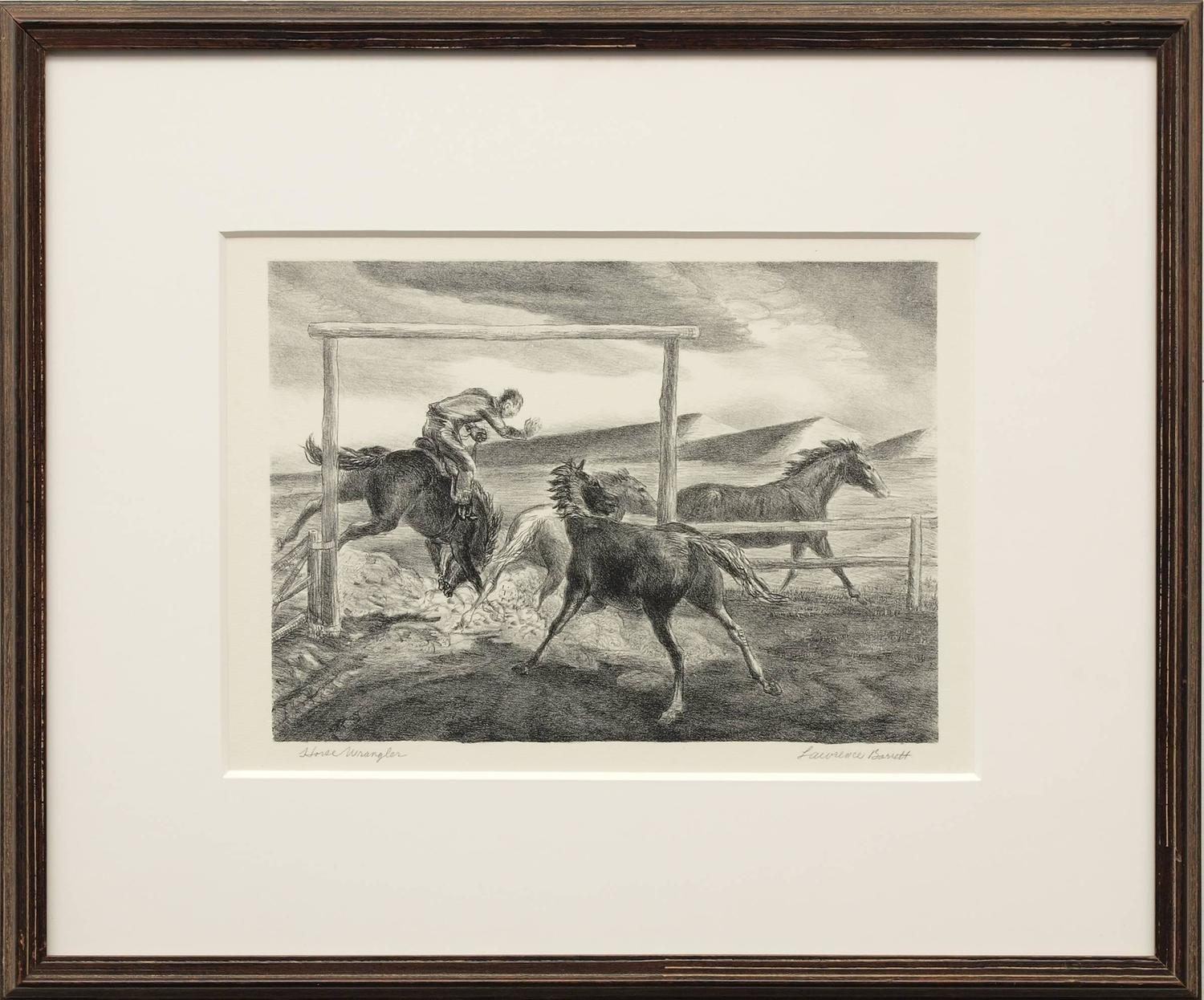 Lawrence Barrett Horse Wrangler For Sale At 1stdibs