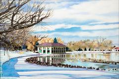 "Washington Park Boathouse ""Winter"" (Denver, Colorado)"