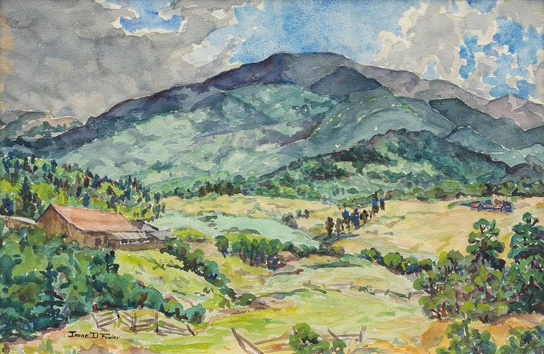 Untitled (Mountain Ranch, Colorado) - Art by Irene D. Fowler