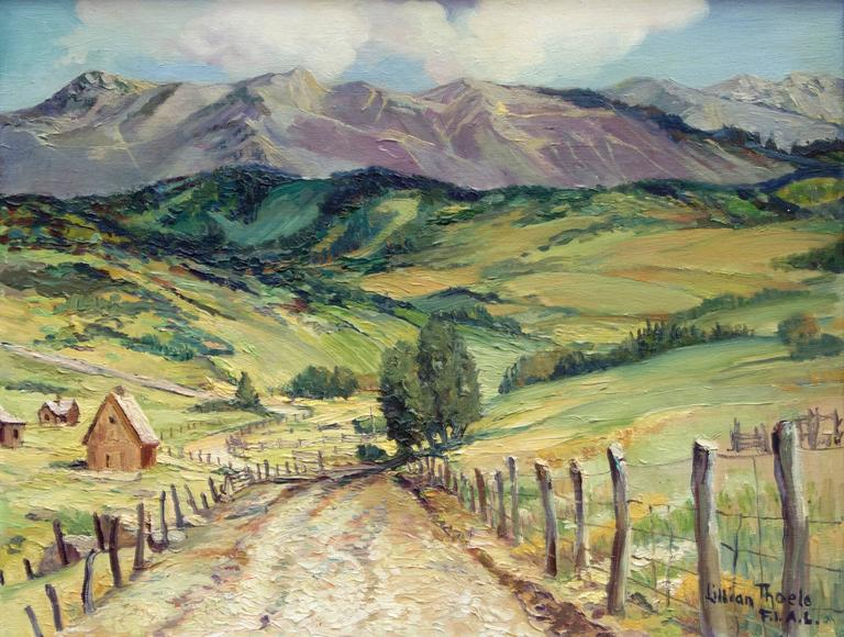 Airstrip Road - Mt. Telluride, Colorado - Painting by Lillian Thoele