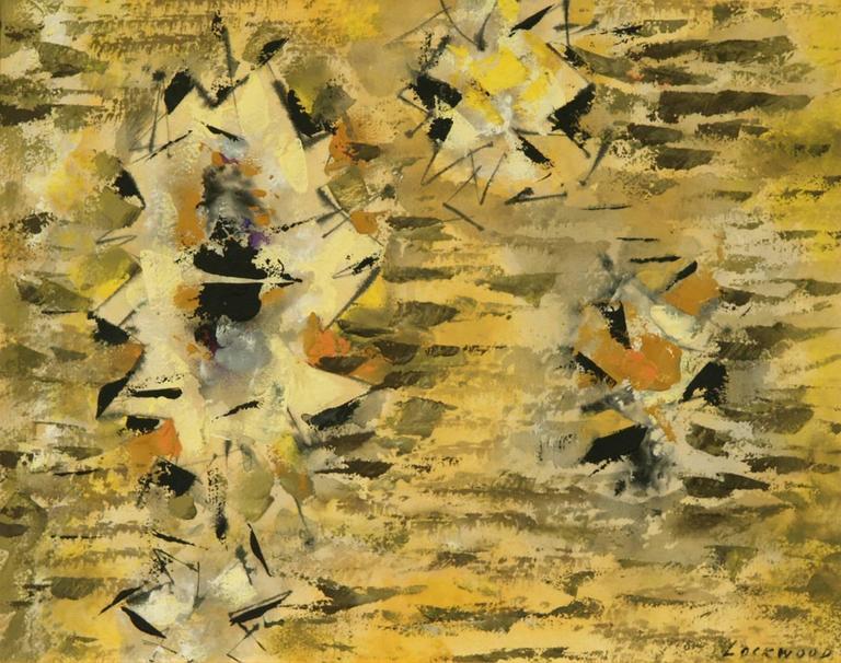 John Ward Lockwood Abstract Drawing - Untitled (Abstract)