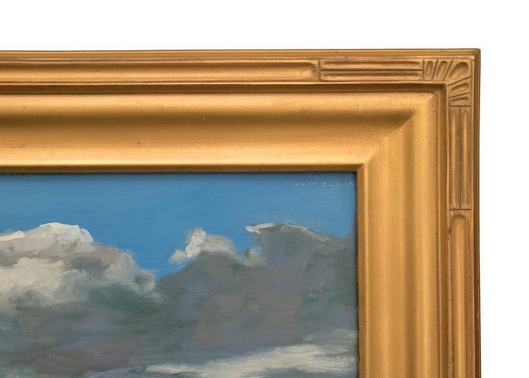 Midday Journey - Gray Landscape Painting by John Modesitt