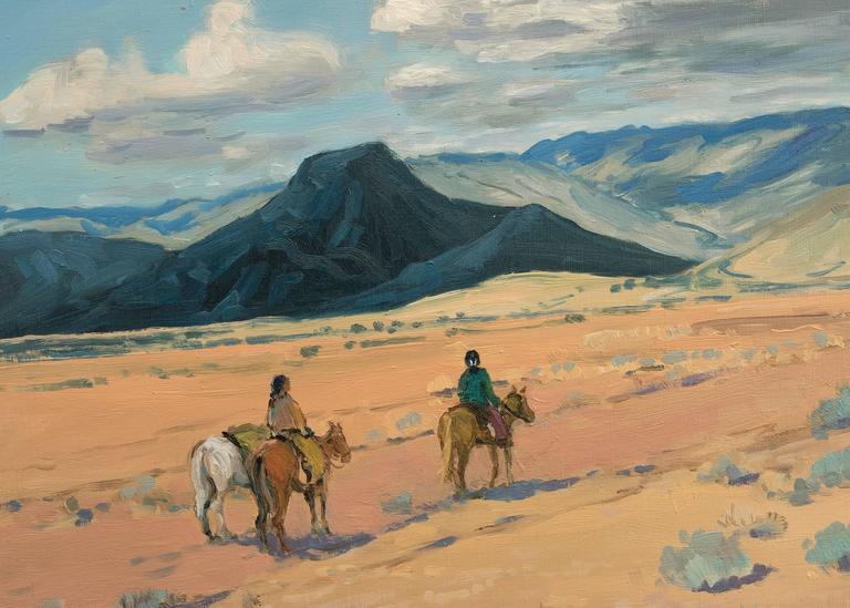 Midday Journey - American Impressionist Painting by John Modesitt