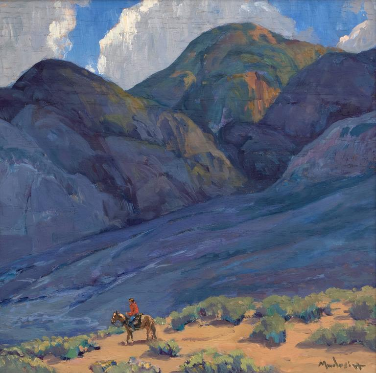 Near Taos (New Mexico) - Painting by John Modesitt