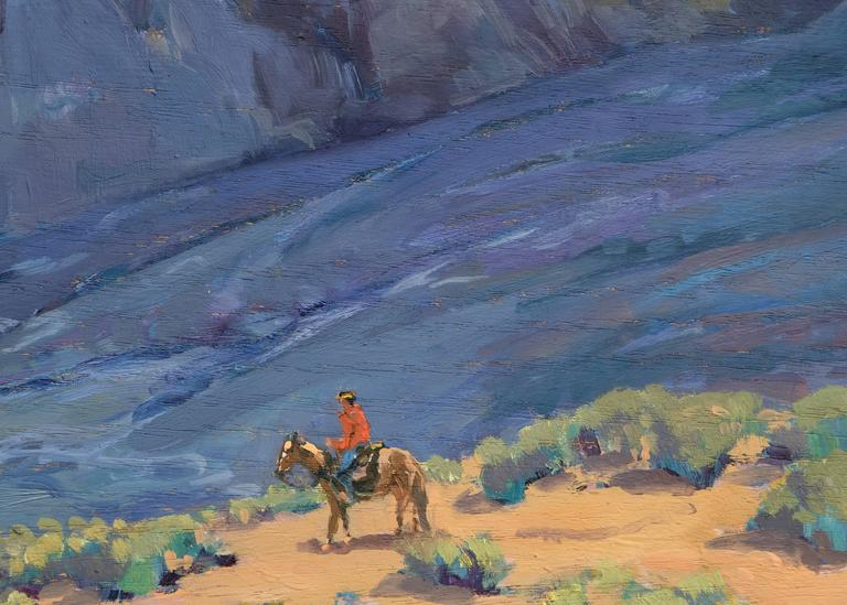 Near Taos (New Mexico) - American Impressionist Painting by John Modesitt
