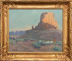 Navajo with Sheep