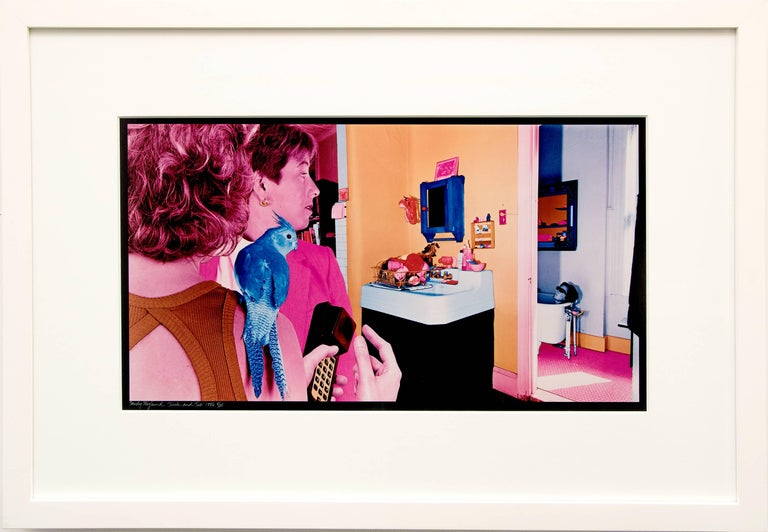 """Sandy Skoglund (born 1946) original 1986 dye transfer photograph, """"Sink and Tub"""" numbered 8 of 25 by the artist.  This is from the original series, True Fiction, ©1986.  The full edition of 25 was not completed as the Kodak Company cancelled the"""