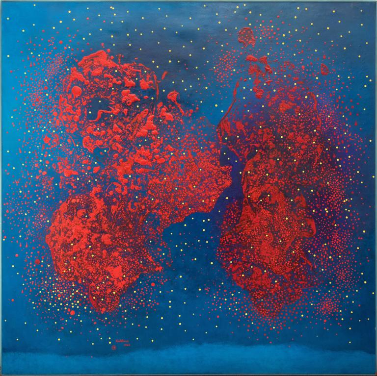 Reds on Blue - Number 12 (Energy of Vibrations in Space Series) 6