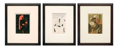 Collection of Three Original Works on Paper