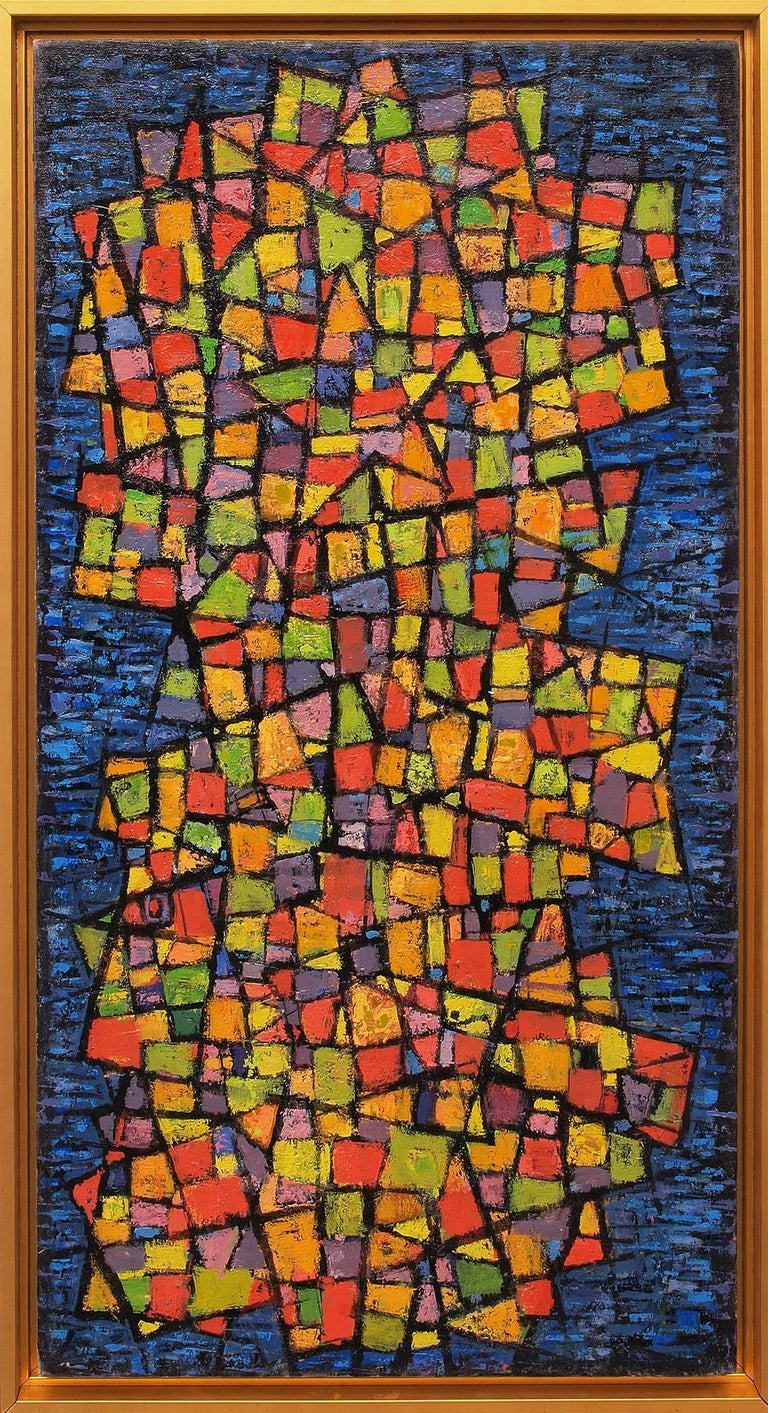 Paul Kauver Smith Abstract Painting - Painted Mosaic (Abstract)