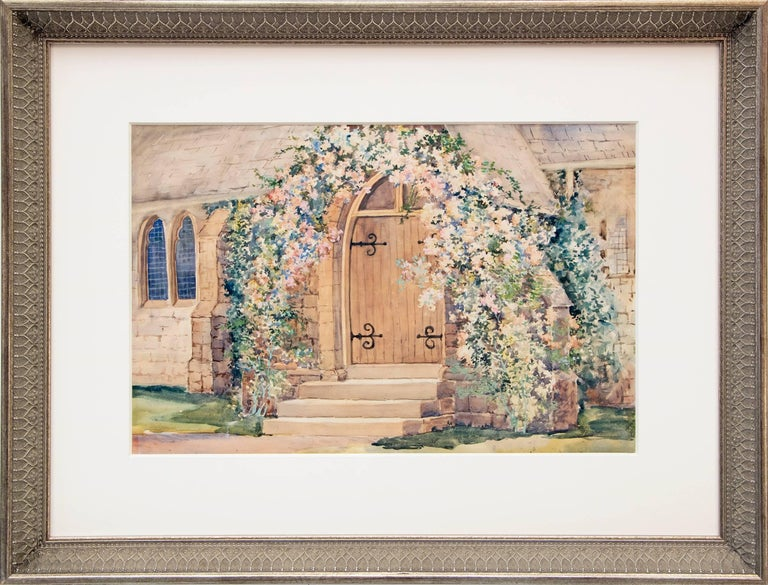 Maude Leach Figurative Painting - St. Andrew's Episcopal Church, Manitou (Colorado)
