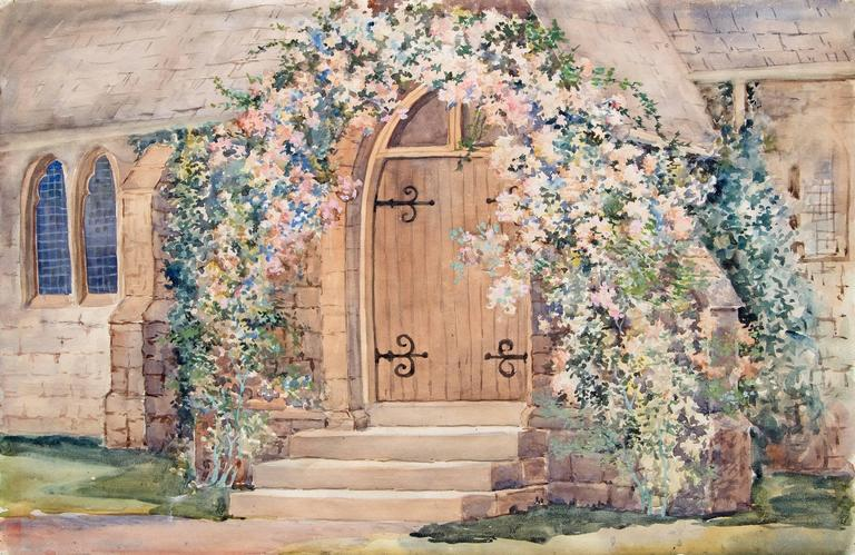 St. Andrew's Episcopal Church, Manitou (Colorado) - Painting by Maude Leach