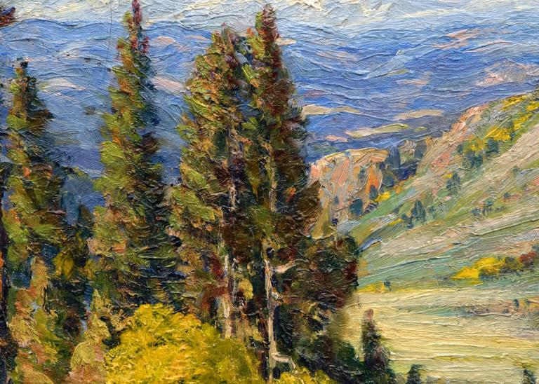 Untitled (View of the Continental Divide from near Genesee, Colorado) - American Impressionist Painting by Robert Alexander Graham