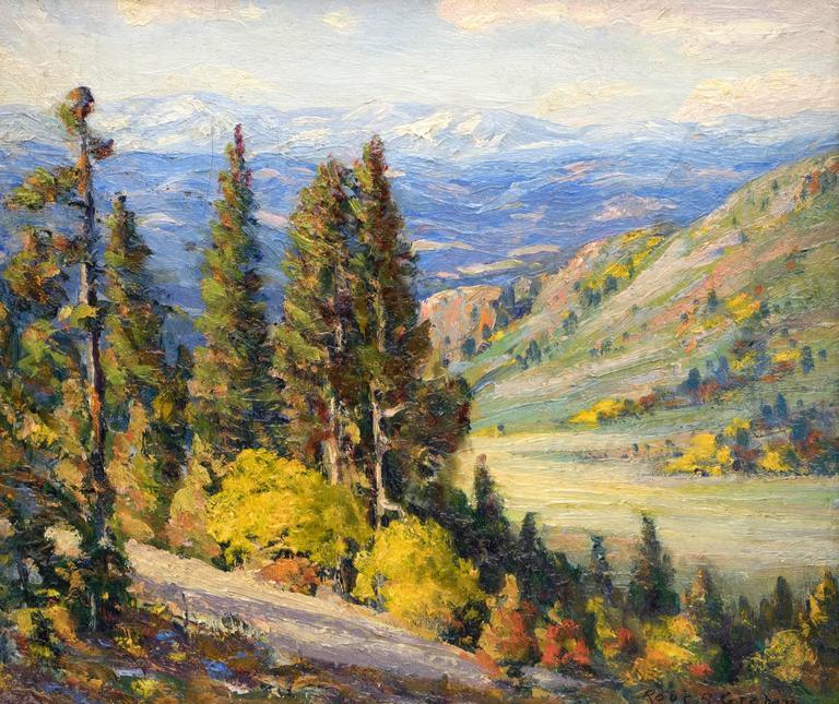Untitled (View of the Continental Divide from near Genesee, Colorado) - Painting by Robert Alexander Graham