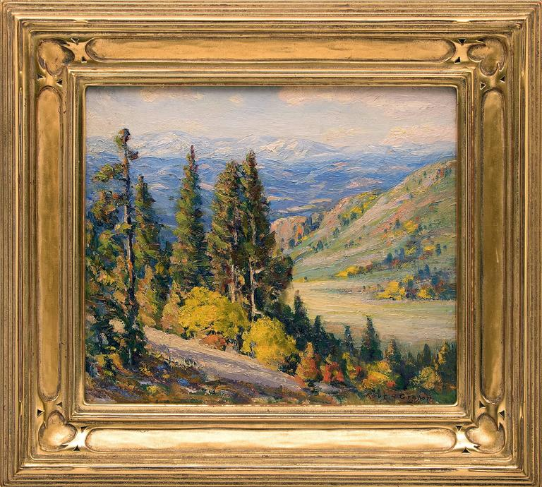 Robert Alexander Graham Landscape Painting - Untitled (View of the Continental Divide from near Genesee, Colorado)