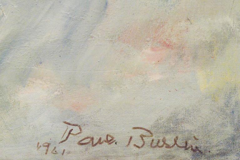 White Phantom - Brown Abstract Painting by Paul Burlin