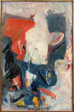 White Phantom (Original 1961 Abstract Expressionist Oil Painting)