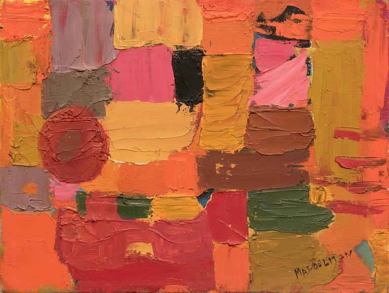 Untitled  (Abstract) - Painting by Beatrice Mandelman