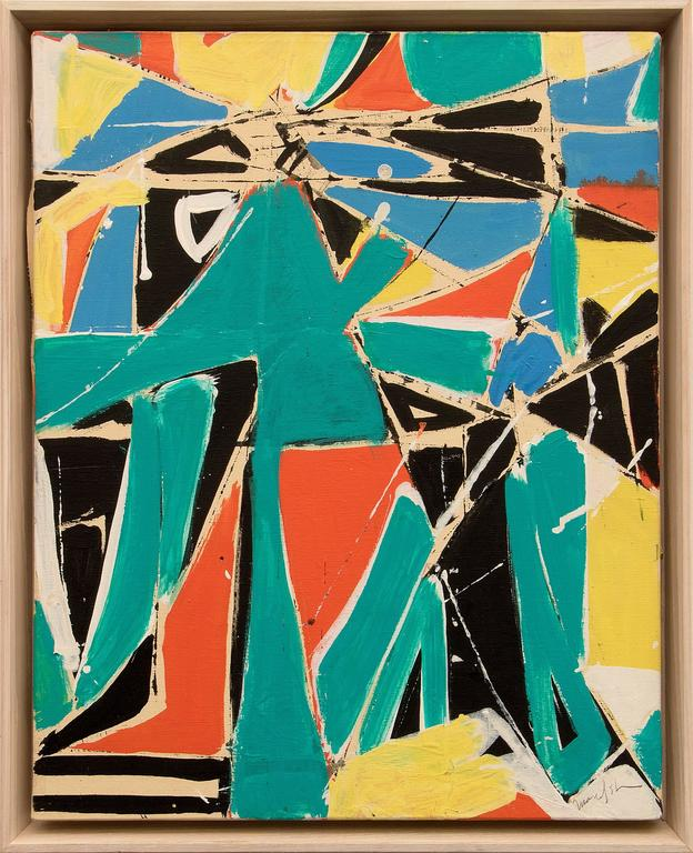 Beatrice Mandelman Abstract Painting - Rendezvous No. 1