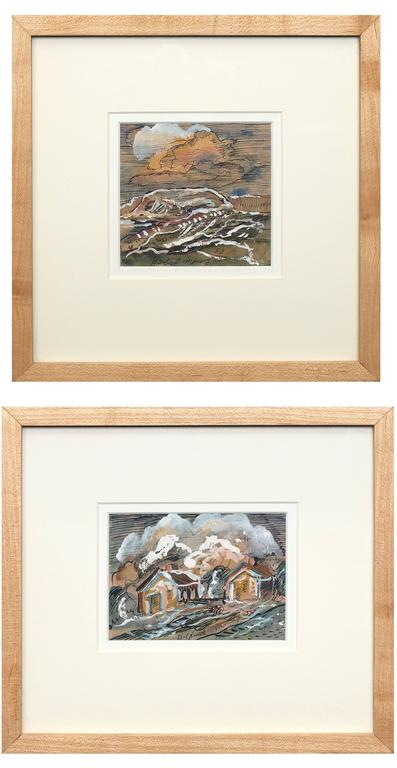 Collection of Two Original Paintings, New Mexico, mid 20th Century
