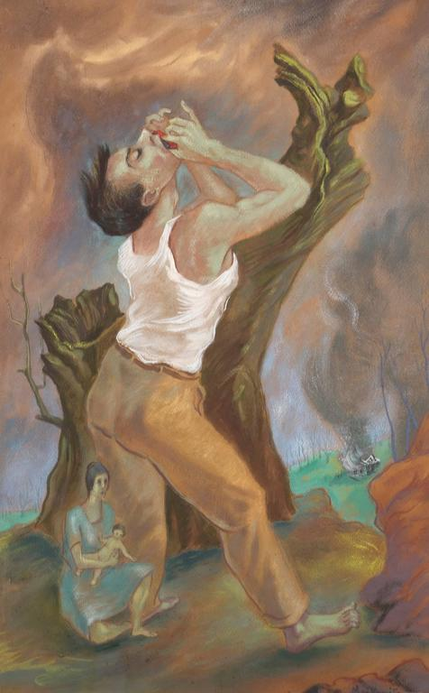 Passions and Feverishness - Painting by Peppino Mangravite