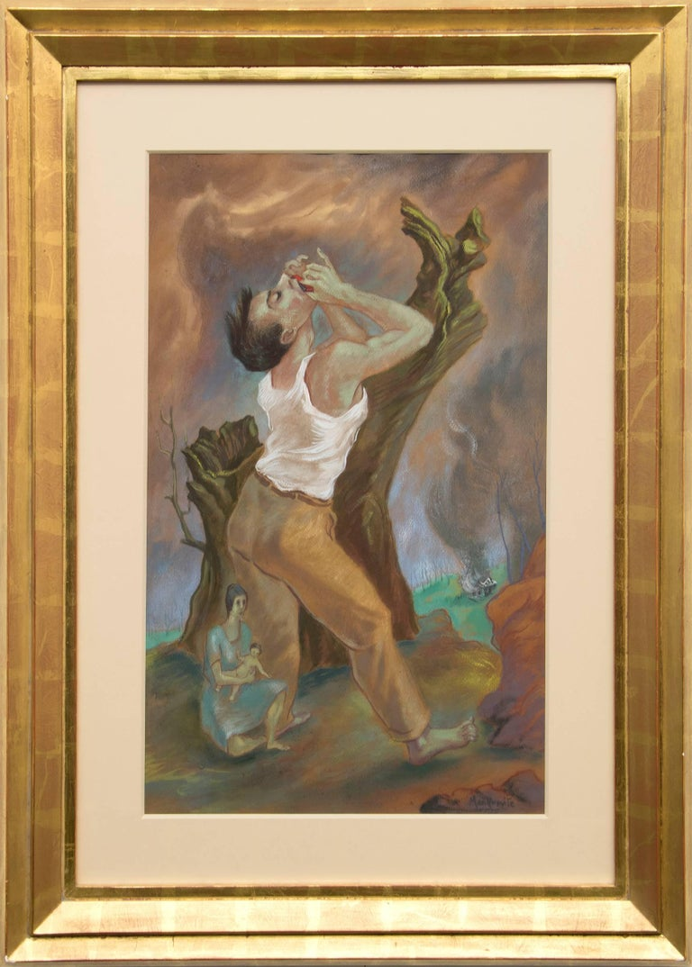 Peppino Mangravite Figurative Painting - Passions and Feverishness