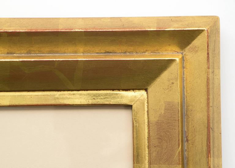 Presented in a custom hand-carved gold leaf frame with all archival materials, outter dimensions measure 36 x 26 ½ x 1 ½ inches.  Image size is 25 x 15 ½ inches.  After studies at the Scuola Tecnica and the Belle Arti in Carrera, Italy, Peppino