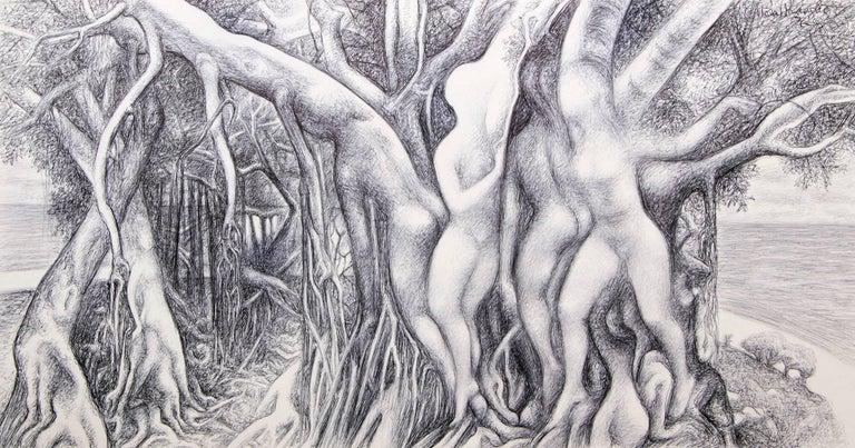Ross Eugene Braught Figurative Art - Figure Within Trees