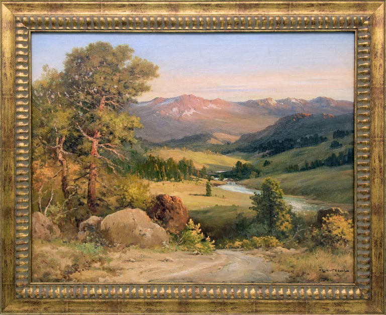 Estes Park, Colorado (Rocky Mountain National Park) - Painting by Robert Wood