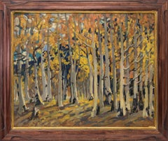 Untitled (Aspen Grove in Autumn, Colorado landscape paintng)