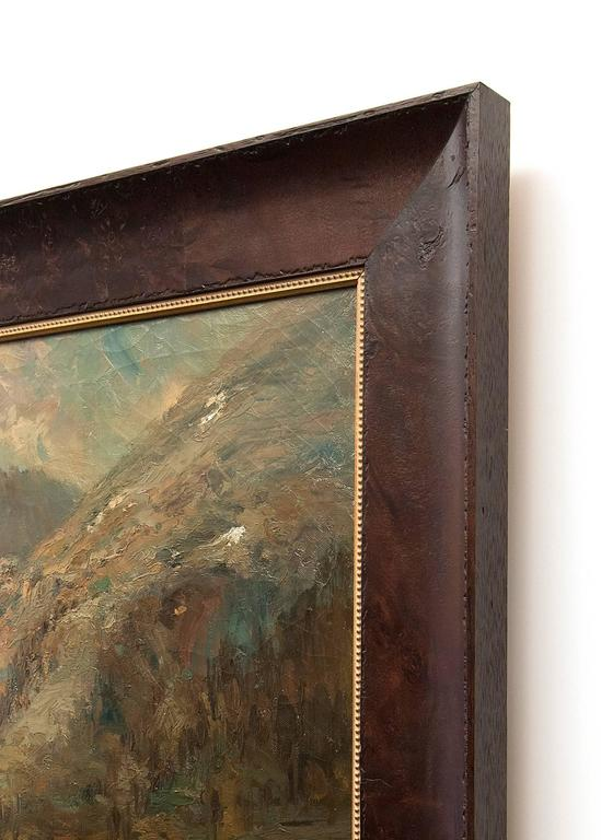An important early painting of Ouray (near Telluride) Colorado.  Housed in a custom hardwood frame.  Outer dimensions measure 35 ¼ x 51 ¼ x 1 ½ inches.  Canvas measures 29 x 45 inches.  Provenance: Norman Hawley Meldrum, Denver, Colorado  Estate