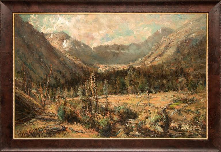 William H. M. (Coxe) Cox Landscape Painting - Untitled (Ouray, Colorado)