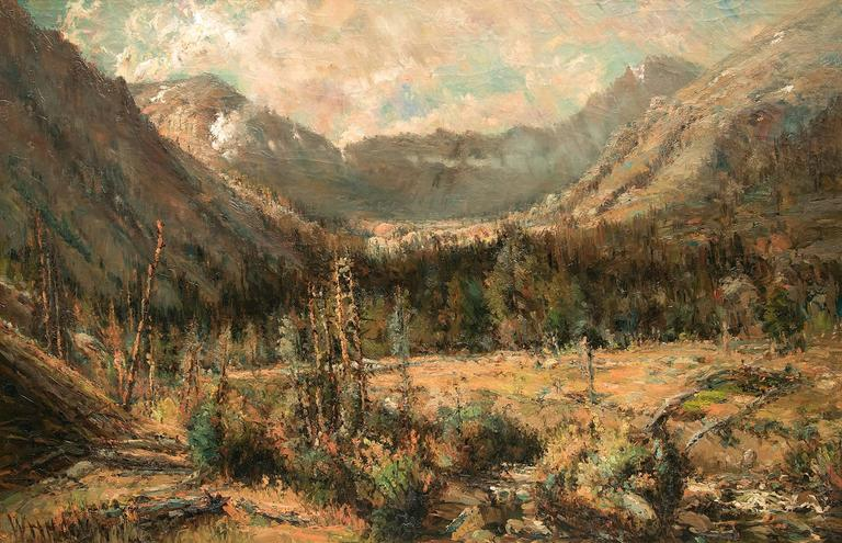 Untitled (Ouray, Colorado) - Painting by William H. M. (Coxe) Cox