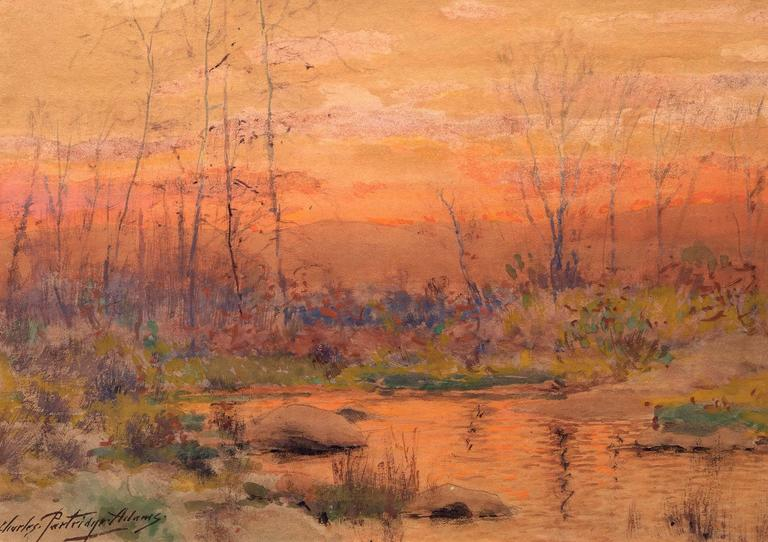 Charles Partridge Adams - Untitled (River at Sunset, Colorado) 1