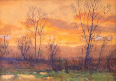 Untitled, Sunset, Along the Front Range, Colorado, Landscape, Orange Blue Green