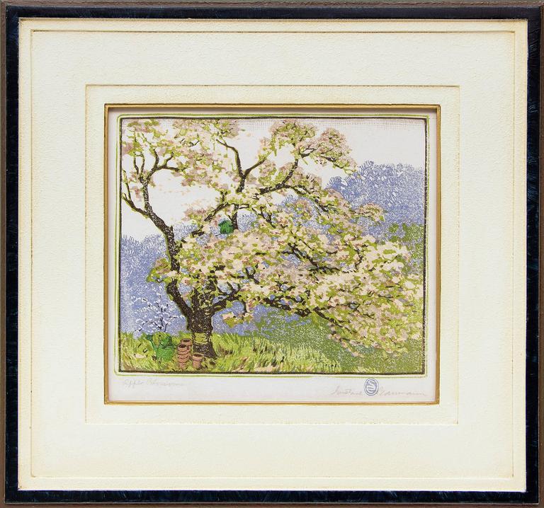 Gustave Baumann - Apple Blossoms 1