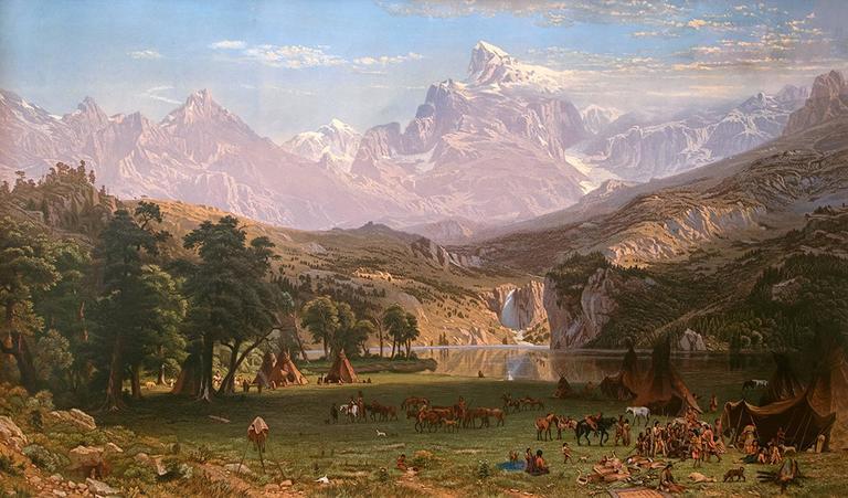 The Rocky Mountains, Lander's Peak (Wyoming) - Print by Albert Bierstadt