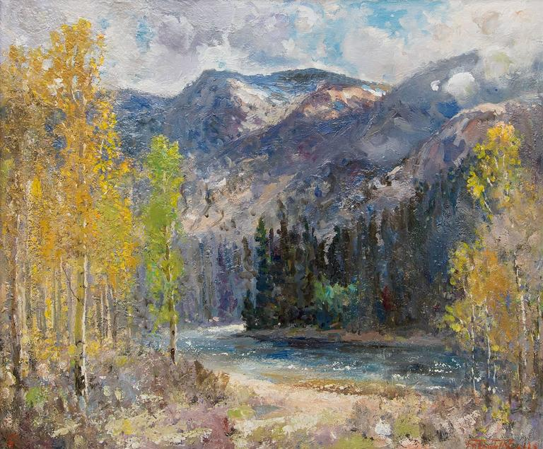 Time of Autumn (Chama River, New Mexico) - Painting by Fremont Ellis
