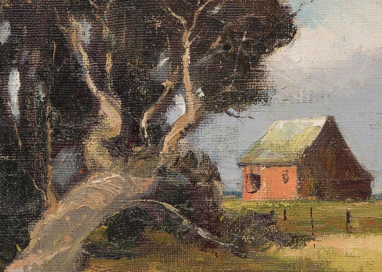 Little River Farm, Mendocino (California) - American Impressionist Painting by Jon Blanchette