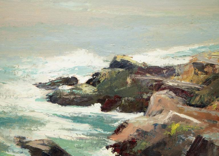 West of Mendocino (Northern California Coast) - American Impressionist Painting by Jon Blanchette