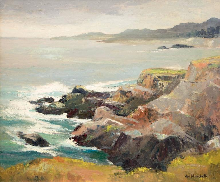 West of Mendocino (Northern California Coast) - Painting by Jon Blanchette