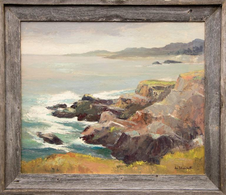 Jon Blanchette Landscape Painting - West of Mendocino (California)