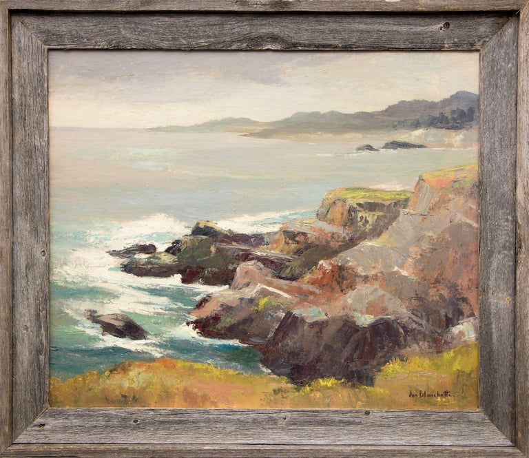 Jon Blanchette Figurative Painting - West of Mendocino (Northern California Coast)