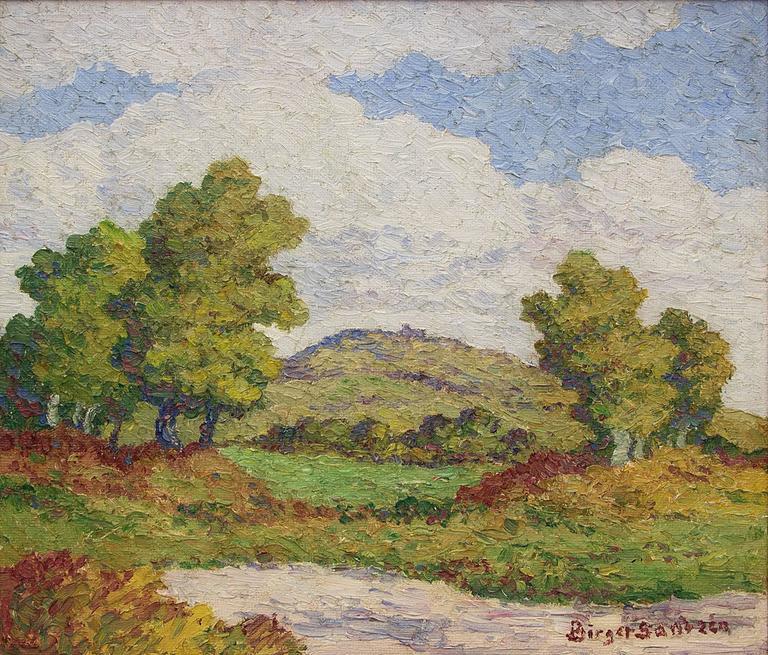 Coronado Heights (Kansas) - Painting by Birger Sandzen
