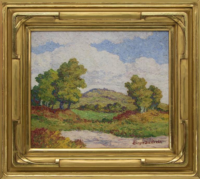 Birger Sandzen Landscape Painting - Coronado Heights (Kansas)