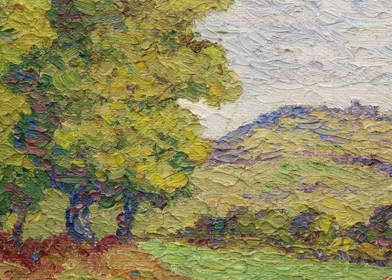Coronado Heights (Kansas) - Brown Landscape Painting by Birger Sandzen